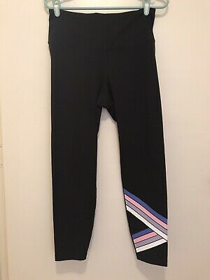 Old Navy Active Go Dry Womens Athletic Stretch Capri Leggings Yoga, Fitted, Sz L