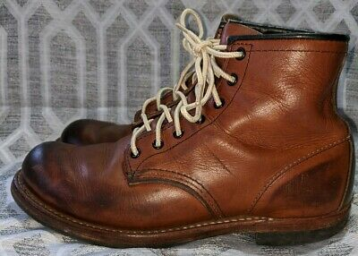Red Wing Shoes 9016 Boot Brown Leather Size 7 D Beckman Round USA Cigar Feather