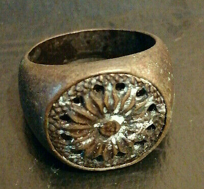 Rare Extremely Ancient Viking Ring Bronze Artifact Amazing