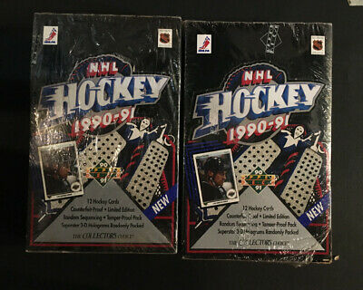 1990-91 Upper Deck Hockey Low Number Series Box 2 Boxes Jaromir Jagr Rc
