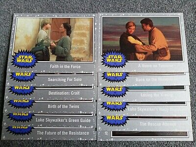 2019 Topps Star Wars Journey To The Rise Of Skywalker Base Crd Silver 12 Cards
