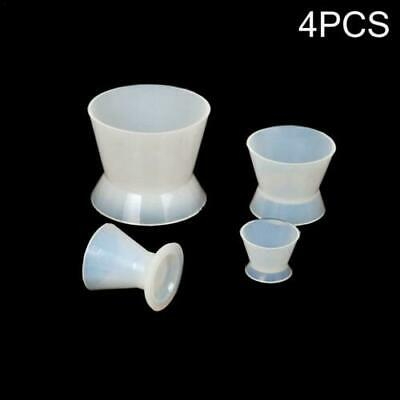 4 Pcs Set Dental Lab Non-Stick Flexible Silicone Dappen Dish Mixing Bowl Cup HV