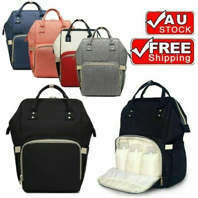 Waterproof Mother Mummy Nappy Bag Diaper Large Bag Baby Changing Shoulder Bag