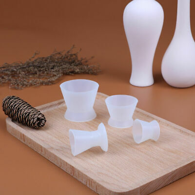 4Pcs/set Dental flexible silicone mixing cup/bowl dental silicone rubber ^P