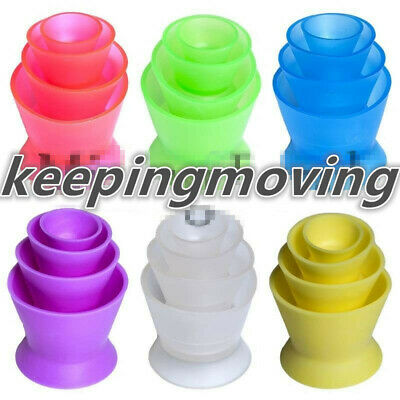 Colorful Dental Lab Silicone Mixing Bowl Cup Silicone Rubber Mixing Bowl 4pcs