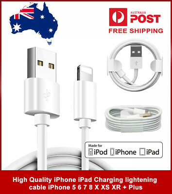 3x USB Lightning Charging Cable Data for Genuine Apple Charger iPhone iPad 6 8 7