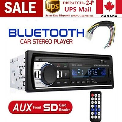 1 DIN Car Stereo MP3 Player In Dash Bluetooth AUX~in FM Radio Receiver Head Unit