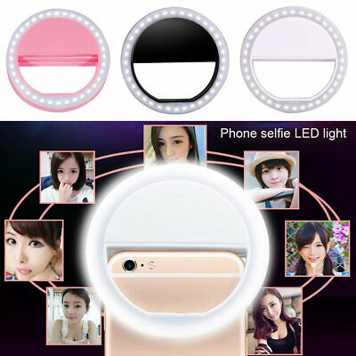 Portable Mobile Phone Selfie Makeup LED Ring Flash Light Camera Photography AUS
