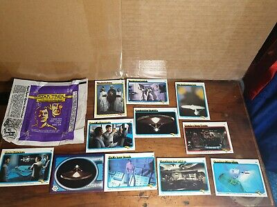 STAR TREK 1979 The Motion Picture packet wrapper plus 11 cards