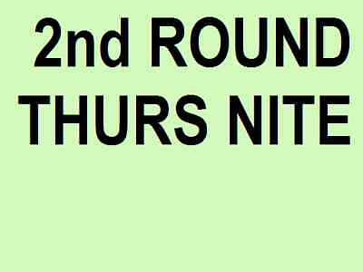 AUSTRALIAN OPEN TICKETS ~ 2nd ROUND ~ THURSDAY 23 JAN 23/1 THURS
