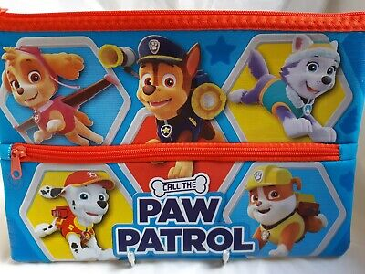Paw Patrol Pencil Case - 'Call The Paw Patrol' Large Double Zip Pencil Case