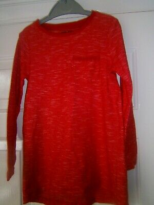 Girls Red Next Long Top/Dress Age 6 Years