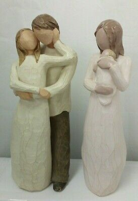 2 x Willow Tree Figurines - Angel of Mine & Together  I-1640-MY-W03