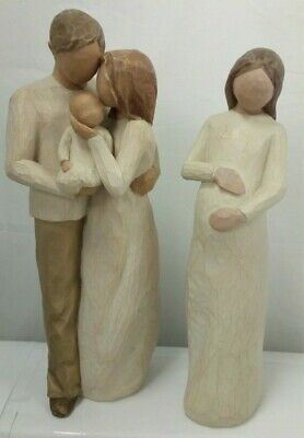 2 x Willow Tree Figurines - Our Gift & Cherish  I-1639-MY-W03
