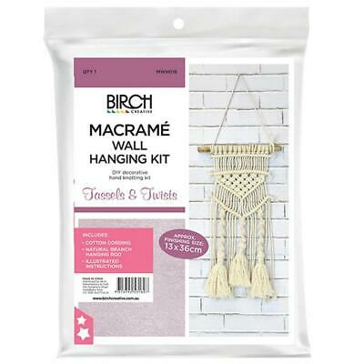 Macrame Wall Hanging Kit - Tassels & Twists - Birch