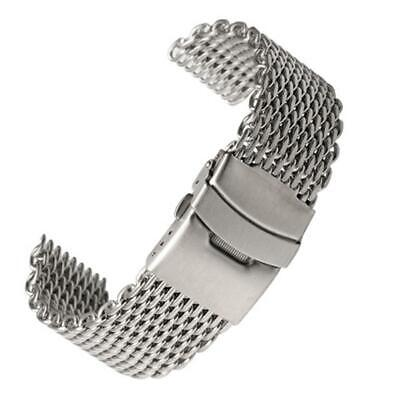 Stainless Steel Dive Shark Mesh Milanese Watch Bracelet 18/20/22/24mm Band A9C0