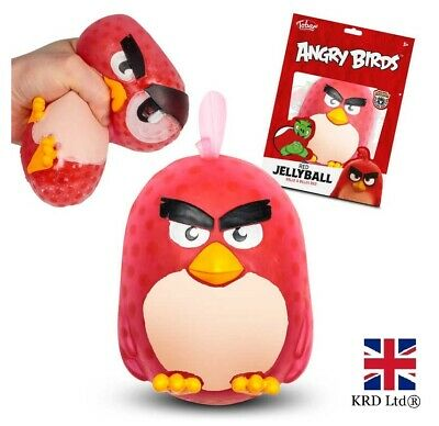 ANGRY BIRDS JELLY BALL - RED Soft Squidgy Fun Toy Squeezy Stress Ball T36884 UK