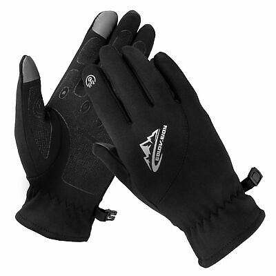 L Men Women Winter Warm Windproof Waterproof Thermal Touch Screen Gloves Mittens