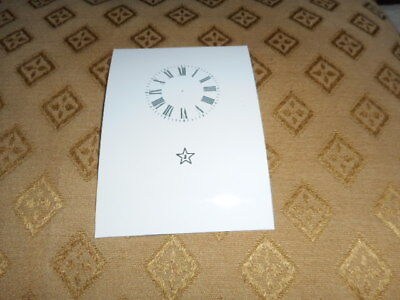 """Junghans Carriage Clock Paper (Card) Dial -1 3/4"""" (M/T)-High Gloss White -Parts"""