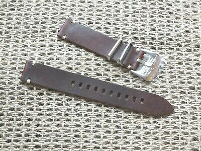 Genuine Leather Army Watch Strap 20mm Coffee Brown by Zuludiver