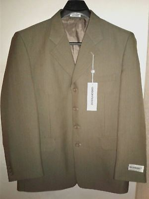 New Giorgio Pacelli Mens 42R Suit Jacket Blazer Sport Coat 4 Button Polyester