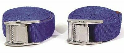 Streetwize TUV/GS Blue 5 Metre Buckle Straps Secure Cargo Car Van Trailer - PAIR