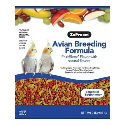 Zupreem Fruitblend Breeder Diet -  Medium Parrot - New To The Market