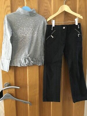 Geox Girls Roll Neck Top And Dark Jeans Age 4-5 Worn Once