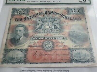 National Bank of Scotland £1 One Pound Note - VF
