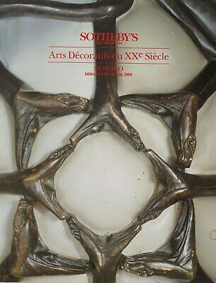 DECORATIVE ARTS 20th c. ART NOUVEAU DECO ARTS CRAFTS GLASS AUCTION CATALOGUE