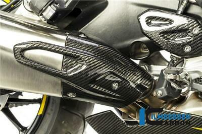 RSR Moto Carbon Fibre Exhaust Heat Shield Compatible With Ducati Diavel Matte Plain Weave 2011-2014