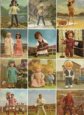 Sirdar Playmates Knitting Pattern 121 Sindy Teenage Doll Baby Action Man Clothes