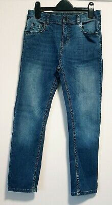BOYS CLOTHES AGE 10 YRS, M&S CASUAL REGULAR FIT BLUE DENIM JEANS w STRETCH
