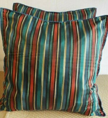 Pair Of 24 Inch Extra Large Giant Cushions Terracotta,Beige,Black Blue