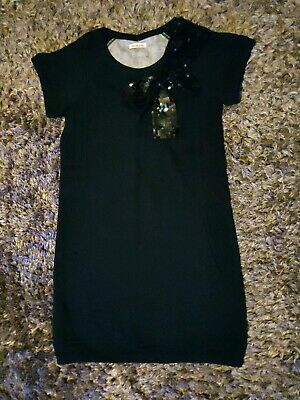 New Debenhams Bluezoo Christmas Age 13-14 Years Girls Black  Jumper Dress Sequin