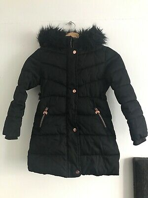 Ted Baker Girls Black  Parka Coat/ Jacket  Age Uk 10 Years
