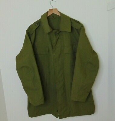 Vintage Czech Military Trench Coat Rain Jacket Otavan Trebon Green Size XL