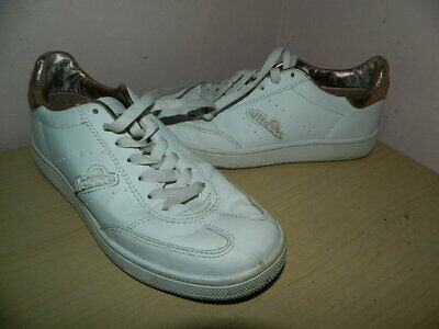 girls Ellesse Napoli white/rose gold lace up shoes trainers uk 3 eur 36
