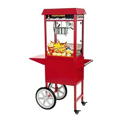 Macchina Pop Corn Professionale con Carretto h165cm | 5kg Popcorn in un'ora.