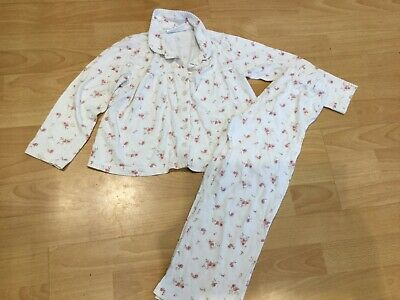 girls little white company floral pyjamas age 5-6 years