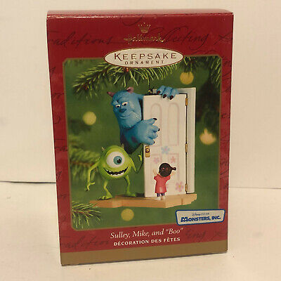 Hallmark Keepsake Disney Pixar Ornament Monsters Inc Sulley Mike Boo 2001