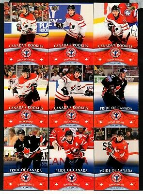 2012-13  2013 Upper Deck National Hockey Card Day Canada 17 Card Complete Set