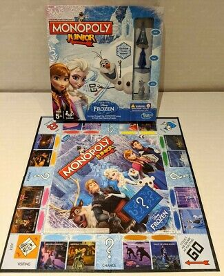 Monopoly Junior Frozen Disney Game Elsa Anna Olaf Board Game 100% Complete