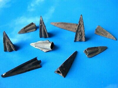 Set 10 Scythian Bronze Arrowheads ca. 7th-6th BC, Ancient Artifact.
