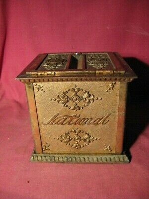 Antique Vtg NCR Cast Iron National Cash Register Receipt Box Ticket Check