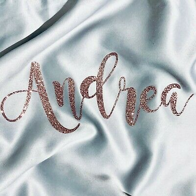 Iron On Name Personalized Word Text Glitter Hot fix Transfer Decor Custom Craft