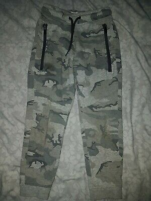 Boys Age 6 Years Next Grey Camo Joggers Tracksuit Bottoms
