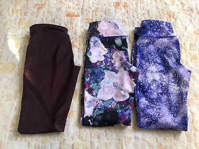 Old Navy Active Athletic Pants Girls Gray 8  Go Dry Lot Of 3 Multi Colored Or