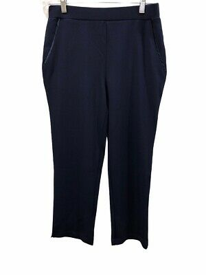 Dennis Basso Caviar Crepe Knit Pull-on Ankle Pants Navy Blue X-Small Size QVC