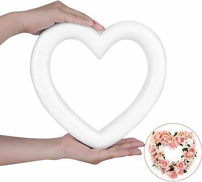 Heart-Shaped Foam Wreath 11in. Valentines Day Crafts Polystyrene Heart Forms